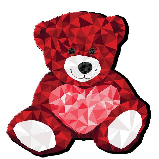 ours rose pour saint valentin